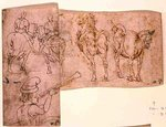 Inv no.38 recto Sketch of Horses, c. 1460-70 Poster Art Print by Giotto di Bondone