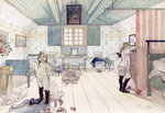Mamma's and the Small Girl's Room, from 'A Home' series, c.1895 Poster Art Print by Carl Larsson