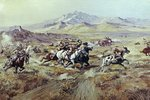 Stagecoach Attack Poster Art Print by Frederic Remington