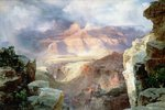 A Miracle of Nature, 1913 Poster Art Print by Thomas Moran