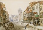 High Street, Salisbury, 1870 Poster Art Print by Thomas Shotter Boys