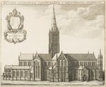 Salisbury Cathedral, illustration for 'Monasticon Anglicanum' by William Dugdale, 1672 Poster Art Print by John Buckler