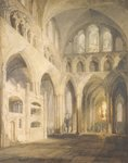 East End of the Nave, Salisbury Cathedral, 1797 Poster Art Print by John Buckler