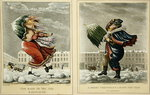 A Merry Christmas and a Happy New Year in London: And the Same to You, Sir, and Many of 'Em, engraved by G. Hunt, 1827 Poster Art Print by Janet and Anne Johnstone