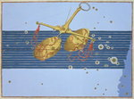 Constellation of Libra, from 'Uranometria' by Johann Bayer, engraved by Alexander Mair Poster Art Print by Johann Bayer