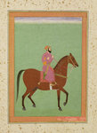 A Mughal Amir on Horseback, c.1670-80, from the Large Clive Album Poster Art Print by Indian School
