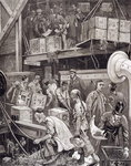 Fine Art Print of Breaking Bulk on Board a Tea Ship in the London Docks by William Bazett Murray