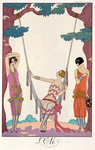 Summer, from 'Gazette du Bon Ton', 1925 Poster Art Print by Georges Barbier
