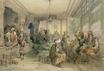 Fine Art Print of A Coffee House, Constantinople, 1854 by Amadeo Preziosi