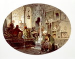 Ottoman Coffee House, 1862 Poster Art Print by Edward Bird