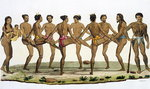 Dance of the Caroline Islanders, plate 22 from 'Le Costume Ancien et Moderne' by Jules Ferrario, published c.1820s-30s