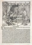 Artist using Durer's drawing machine to paint a figure, from 'Course in the Art of Drawing' by Albrecht Durer, published Nuremberg 1525 Poster Art Print by Albrecht Durer or Duerer
