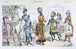 Latest Paris Fashions, from 'The Queen' May 23 1885 Poster Art Print by English Photographer