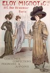 Fashion Advert for Eloy Mignot Poster Art Print by French School