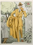 A Man's suit, hat and overcoat, from 'Style 1' published Berlin, 1922 Poster Art Print by French School