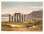 Temple of Neptune at Corinth, from Select Views of the Remains of Ancient Monuments In Greece, from Drawings taken on the spot by William Cole, 1833 Poster Art Print by William Henry Bartlett