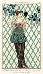 Evening dress, from 'Costumes Parisiens' 1913 Poster Art Print by French School