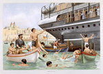 Malta, Heave for a Dive, from 'P & O Pencillings' Poster Art Print by W. Lloyd