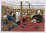 Sunday Morning, Divine Service in the Saloon, from 'P & O Pencillings' Poster Art Print by English School