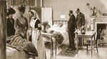 Royal sympathy for the wounded: the King and Queen at Princess Henry of Battenberg's Hospital, from 'The Illustrated War News' Poster Art Print by Henriette Browne