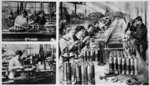 French women's share in the making of munitions: Women manipulating lathes and testing results in a French shell factory, from 'The Illustrated War News' Poster Art Print by French Photographer
