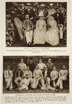 Tennis at Exmouth in the 80s and the Australian Cricket team who toured England in 1884, photographs from The Times Poster Art Print by English Photographer