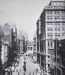 Broad Street, looking towards Wall Street, New York, 1893 Poster Art Print by English School