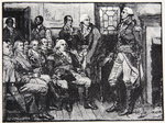 Washington and his Generals in consultation, March 15th 1783, illustration from Harper's Magazine, 1883 Poster Art Print by Howard Pyle