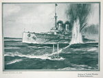 Sinking of a Turkish warship by a British submarine, from 'The Year 1915: a Record of Notable Achievements and Events', 1915 Poster Art Print by American School