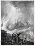 Fight the Last Gun: the Gallant end of H.M.S. Tiperrary at Jutland, illustration from 'The Naval Front' by Gordon S. Maxwell, 1920 Poster Art Print by William Heath