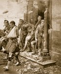 British soldiers in retreat from Mons Poster Art Print by English Photographer