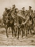 On Britain's Roll of Honour: the Return from the Charge Poster Art Print by English School