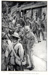 The little town was crowded with men, an illustration from 'With Roberts to Pretoria: A Tale of the South African War' by G.A. Henty, pub. London, 1902 Poster Art Print by Richard Caton Woodville