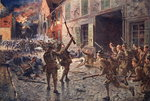 The Coldstream Guards at Landrecies, August 1914 Poster Art Print by Louis Lejeune