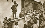 Child imitating Charlie Chaplin Poster Art Print by John Thomson