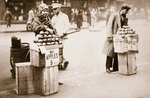 Jobless New Yorkers selling apples on the pavement, 1930 Poster Art Print by American Photographer