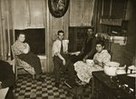 Residents of a Henry Street Tenement on the Lower East Side, Manhattan Poster Art Print by American Photographer