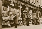 A second hand bookshop, Charing Cross Road Poster Art Print by English Photographer