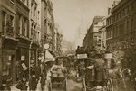Fleet Street in 1880 Poster Art Print by English Photographer