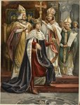 The Crowning of Edward I, Sunday 19th 1274, from 'The Illustrated London News', 1902 Poster Art Print by Allan Ramsay
