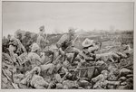 Sleepless Mafeking - Hot Work in the Trenches Poster Art Print by Richard Caton Woodville