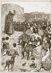 Celtic missionary preaching, illustration from 'The Church of England: A History for the People' by H.D.M. Spence-Jones, pub. c.1910 Poster Art Print by Edward Henry Wehnert