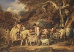Sheep shearing, c.1820 Poster Art Print by Thomas Gainsborough