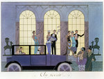Fine Art Print of Farewell, engraved by Henri Reidel, 1920 by Georges Barbier