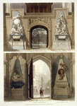 The Entrance into the Choir and the West Entrance, plate 20 from 'Westminster Abbey', engraved by J. Bluck Poster Art Print by Augustus Charles Pugin