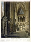 Entrance into Poet's Corner, plate 26 from 'Westminster Abbey', engraved by J. Bluck Poster Art Print by Thomas Uwins