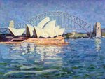 Sydney Opera House, AM, 1990 Poster Art Print by Ted Blackall