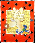 Fine Art Print of Happy Reindeer, 2005 by Tony Todd