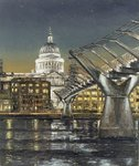 St Paul's and the Millennium Bridge, 2004 Poster Art Print by Anonymous