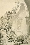 The Exhibition Starecase Poster Art Print by William Hogarth